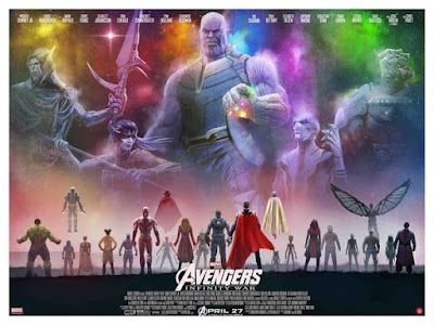 New York Comic Con 2018 Exclusive Avengers: Infinity War Movie Poster Giclee Print by Andy Fairhurst x Grey Matter Art x Marvel