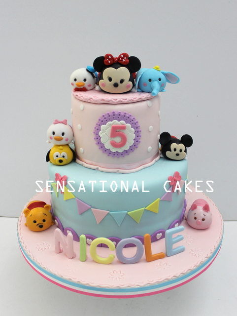 The Sensational Cakes tsum tsum 3d cake singapore mickey donald