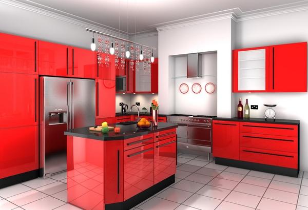 rak dapur warna merah