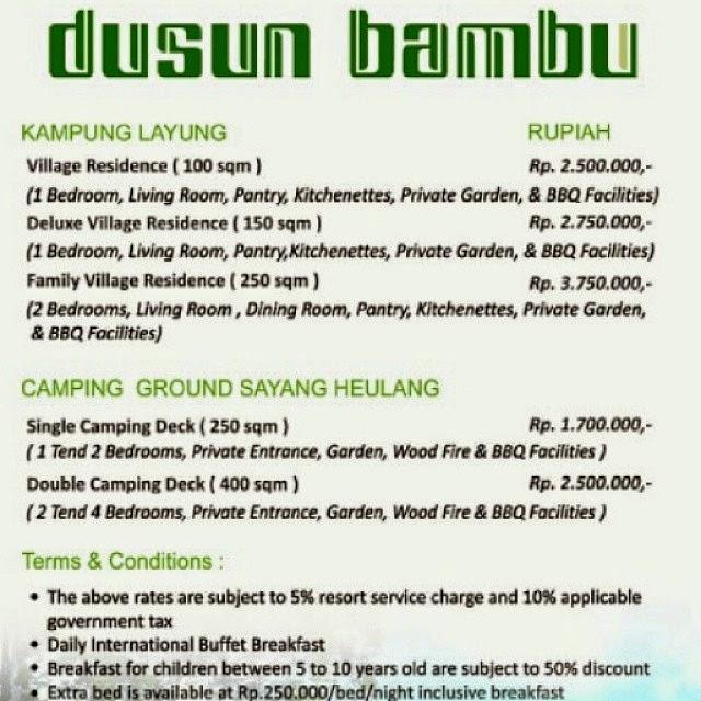 Dusun Bambu Bandung Wisata Alam Tradisional