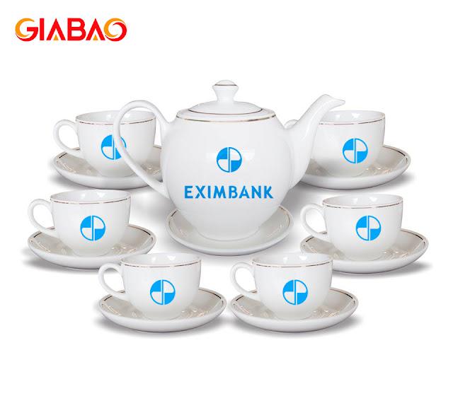 bộ ấm trà sứt rắng giá rẻ Gia Bảo truyền thống
