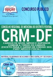 Apostila CRM-DF cargos de nível médio e superior