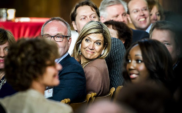 Queen Maxima of The Netherlands visit debt relief Buddy Netherlands (SchuldHulpMaatje Nederland), a national organization that helps people who have got into financial trouble or at risk of exclusion in Leiden