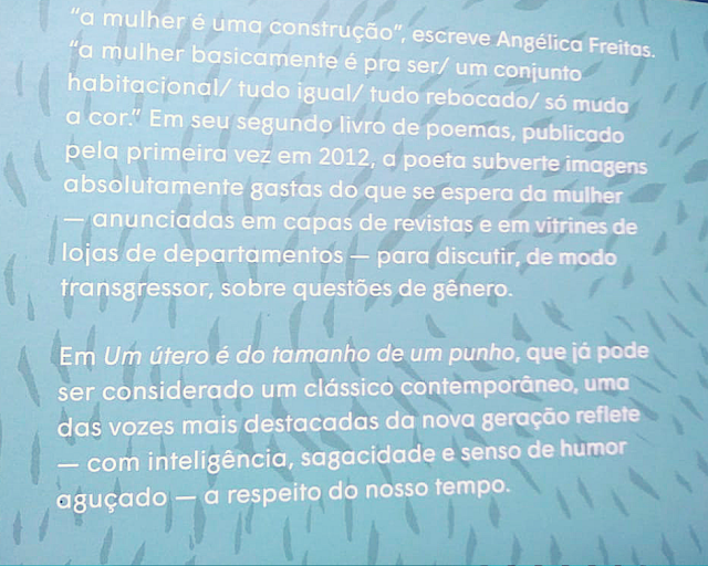 """Resenha: """"Um útero é do tamanho de um punho"""", da Angélica Freitas"""