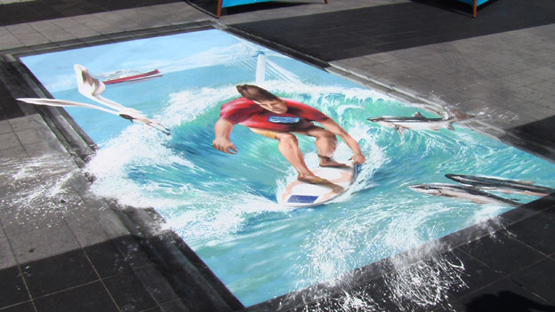 Street painting on canvas | Interesting Creative Designs