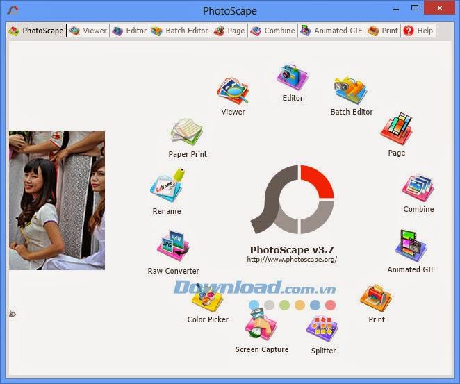 Download PhotoScape - Phần mềm chỉnh sửa anh thông dụng