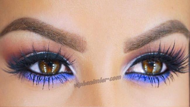 Mavi ve Gümüşi Göz Farı - viphanimlar.com