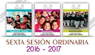 Sexta sesión ordinaria CTE 2016-2017