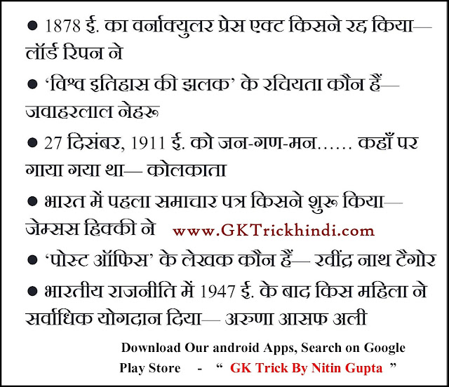 Geography GK Trick in Hindi