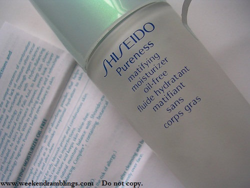 Shiseido Pureness Matifying Oil-free moisturizer