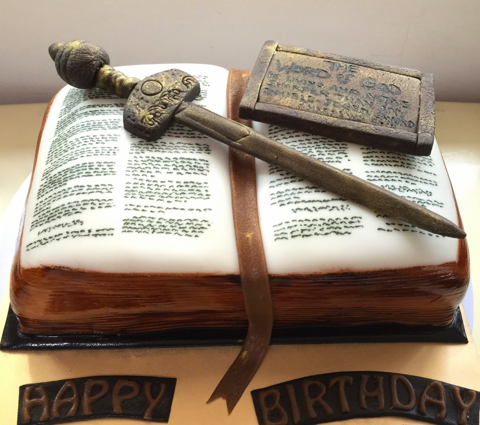 Sword In The Bible Quote: Sword And Bible Cake