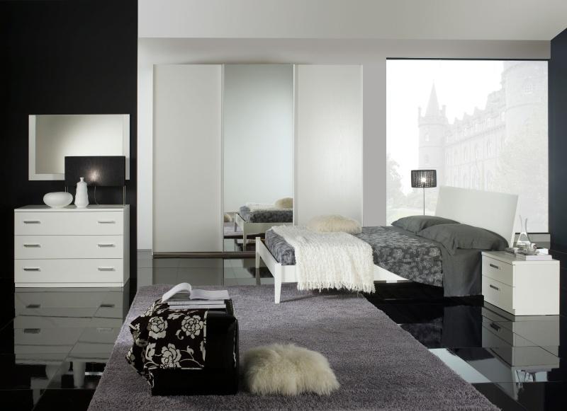 Dormitorios color gris y blanco dormitorios con estilo for Habitacion lila y blanca
