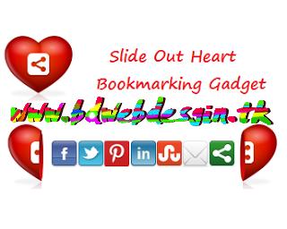 আপনার ব্লগে যুক্ত করুন Awesome Fixed Position Slide Open Heart Bookmarking Gadget
