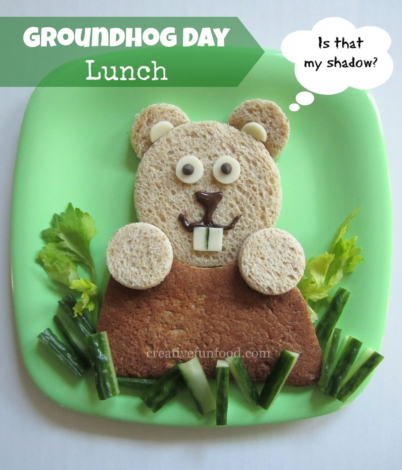 Creative Food Groundhog Day Lunch