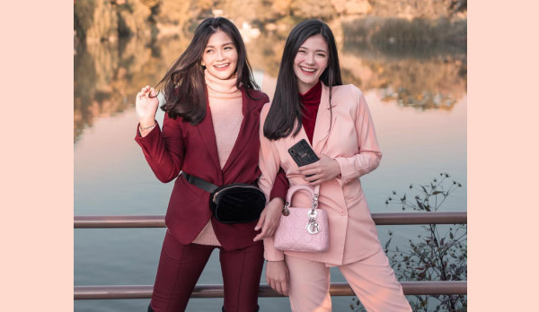Vern and Verniece - Vivo V11i fairy pink - blogging sisters - pink - Bacolod blogger - smartphone - fashion - style