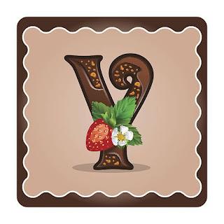 Abecedario hecho con Postres y Chocolate.