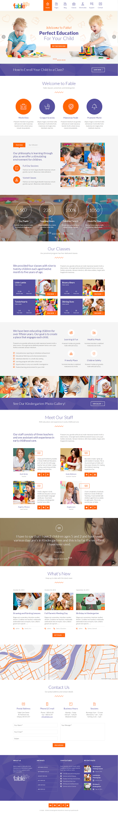 Premium Child Care Website Theme