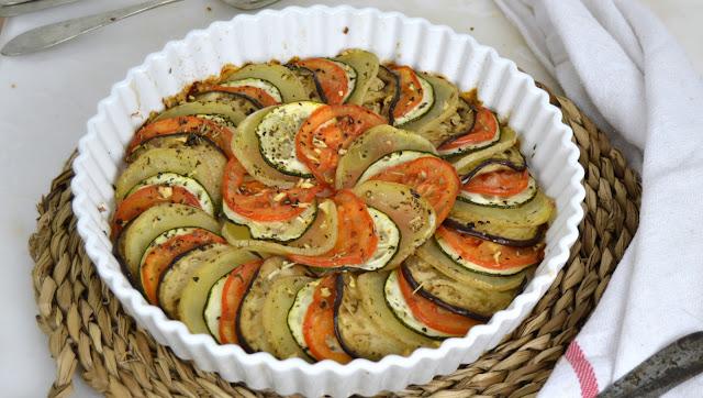 Ratatouille. Receta francesa de verduras asadas al horno
