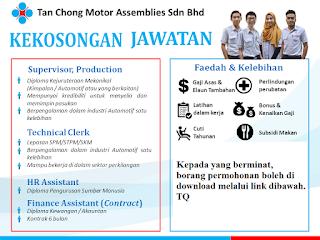 Tan Chong Motor Kerja Kosong