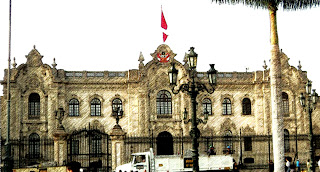 Palacio de Gobierno, no Centro de Lima