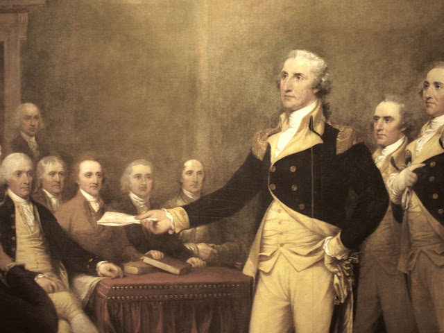 Oil painting of George Washington by John Trumbull