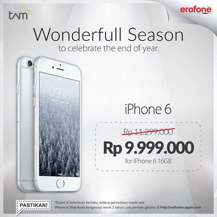 Banyak penawaran Istimewa untuk kita yang mau membeli gadget di tamat tahun  Hanphone Promo Smartphone dan. Erafone Akhir Tahun iPhone ... c6825abed2