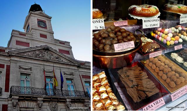 Madri, Espanha, Porta do Sol e Confeitaria La Mallorquina