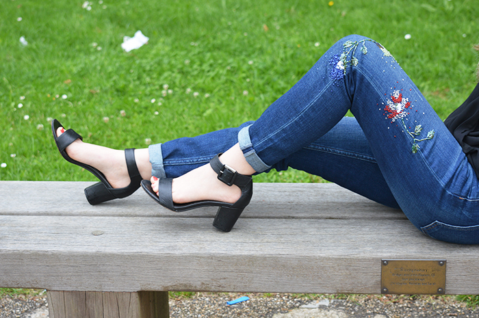 topshop beaded jeans fashion bloggers