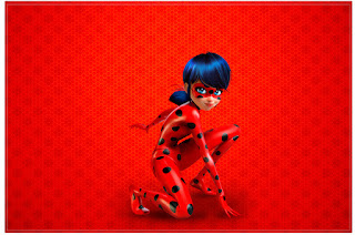 Miraculous Ladybug Free Printable Invitations, Labels or Cards.