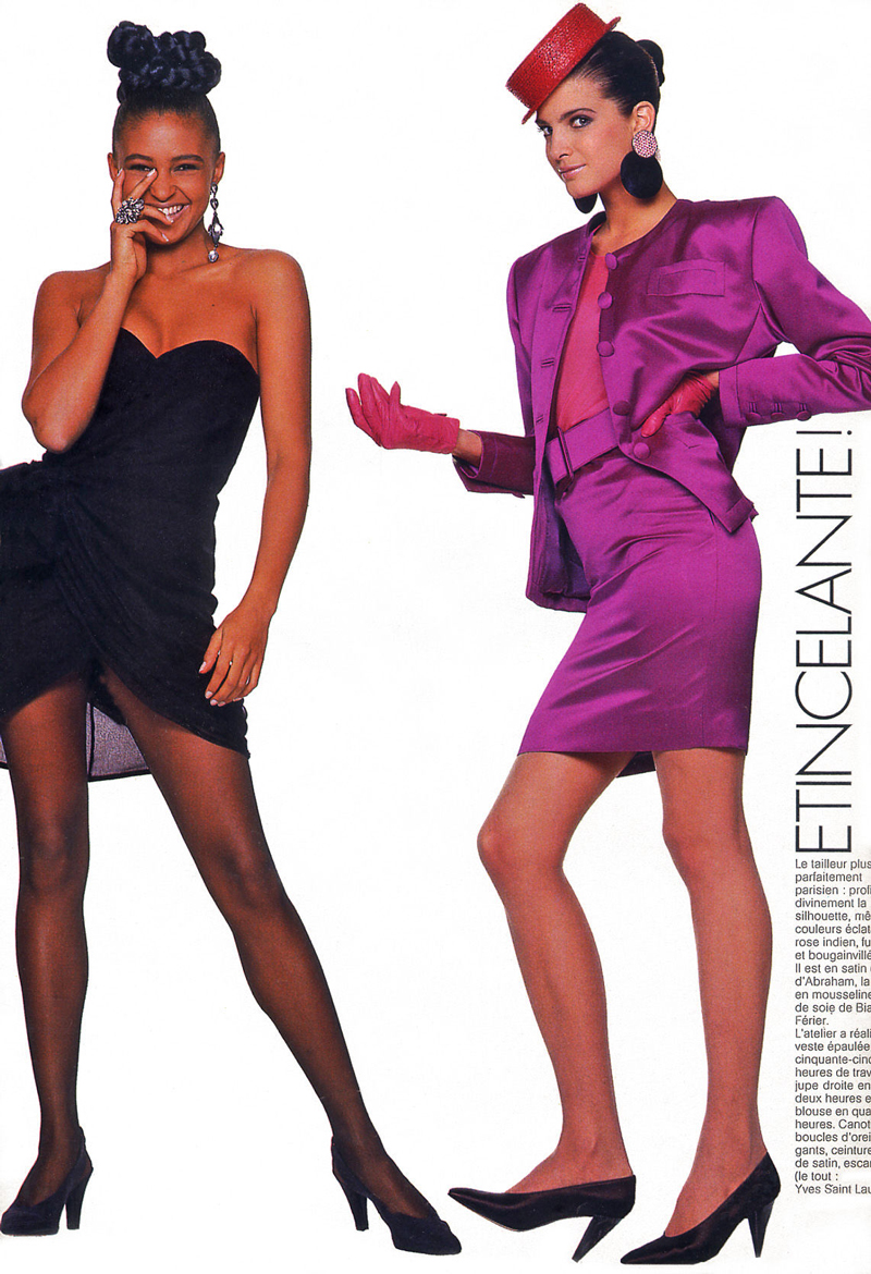 Yves Saint Laurent in Elle France March 1987 via www.fashionedbylove.co.uk