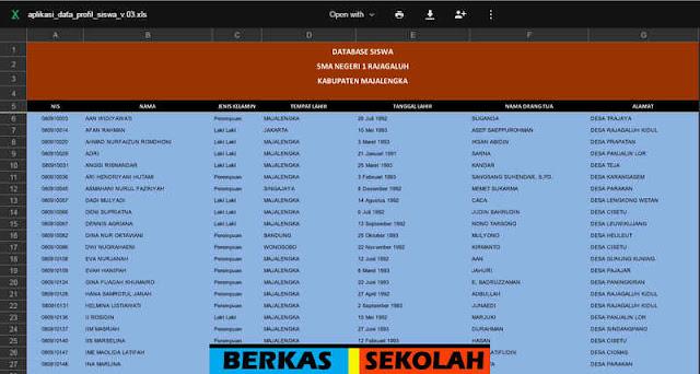 Download Aplikasi Data Profil Siswa V.3