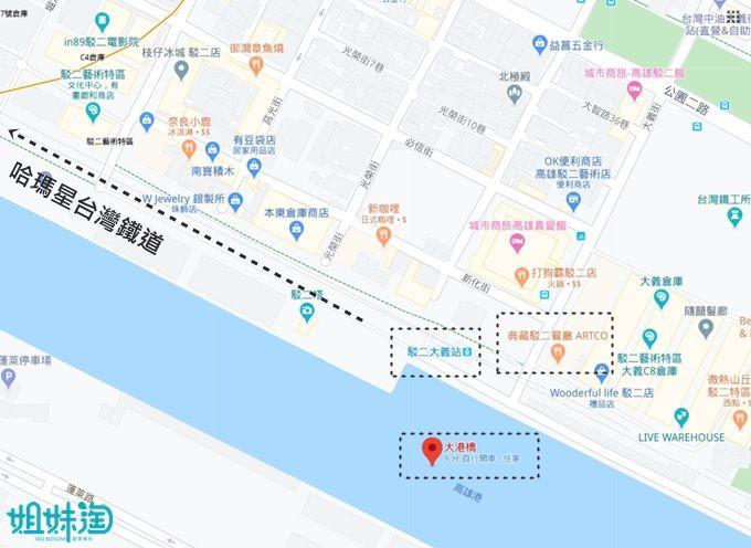 高雄大港橋,高雄輕軌,流行音樂中心,駁二藝術特區,哈瑪星,in98
