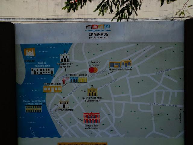 mapa centro historico penedo