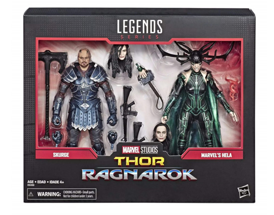 Marvel 80th Anniversary Marvel Legends Skurge and Hela toys