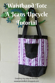 Waistband Tote from Jeans