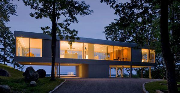 Rumah Kaca Transparan Modern Menakjubkan