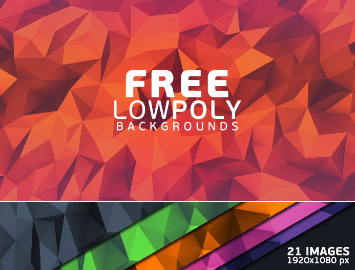 21 Free Low Poly Backgrounds