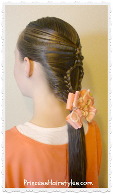 Teardrop mermaid braid hairstyle, video tutorial