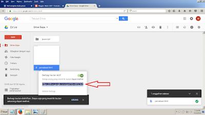Cara copy link di Google Drive