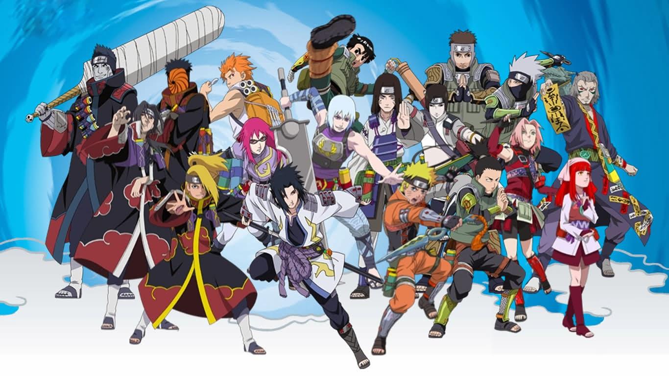Gambar Lucu Naruto Yang Sedang Bermain Game Online