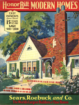 Cover of the 1930 Sears Modern Homes catalog featuring Sears Lewiston