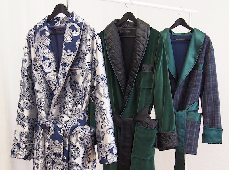 Men's Paisley Silk Luxury Dressing Gowns And Smoking Jackets