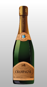 champagne bottle clipart