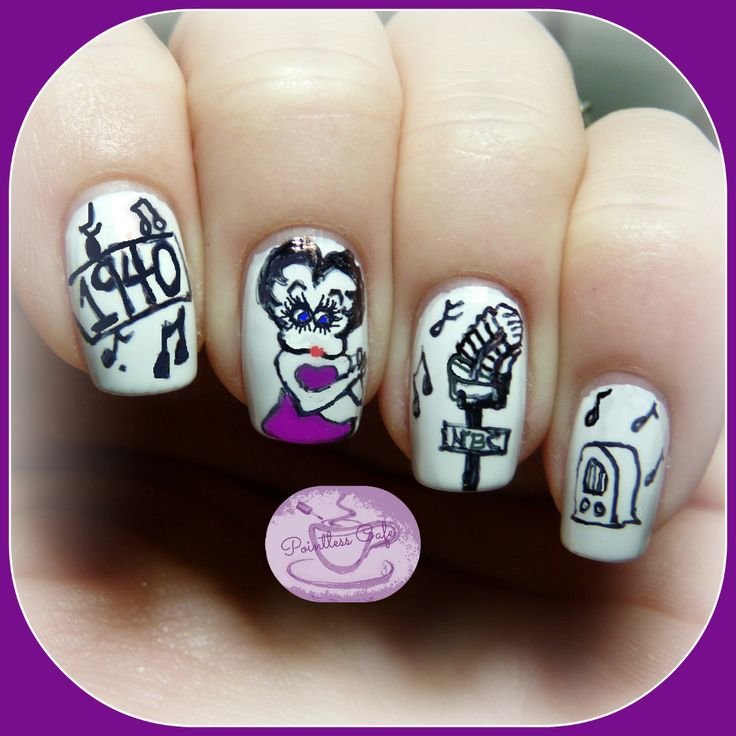 Betty Boop Nails: 40 Great Nail Art Ideas: Cartoons!