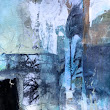 "Contemporary Mixed Media Abstract Art Painting,""LANDSCAPE LIBERATION"" by Intuitive Artist Joan Fullerton"