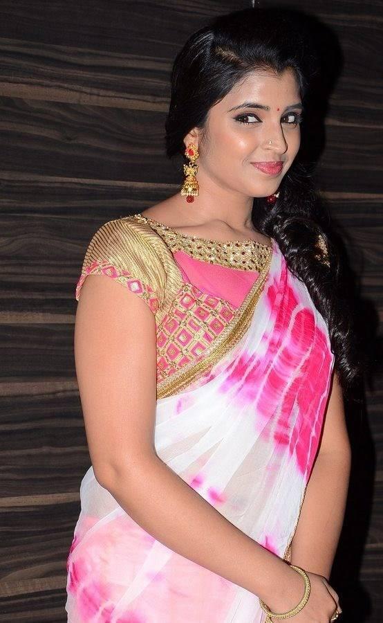Tv Anchor Shyamala Stills At Movie Audio Launch In White Half Saree