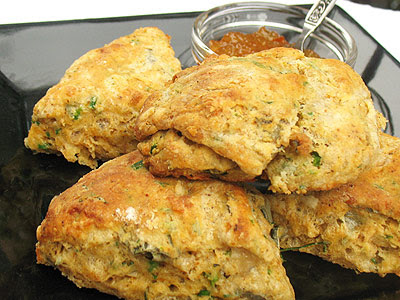 Indian-Style Spicy Cheese Scones