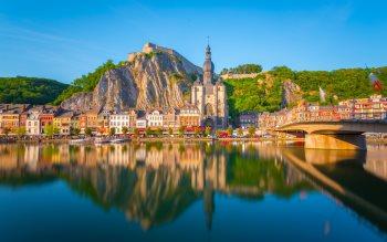 Wallpaper: Dinant city in Belgium
