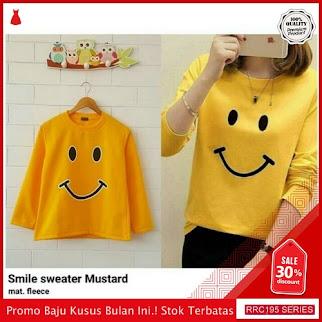 RRC195S36 Smile Sweater Wanita Terbaru BMGShop