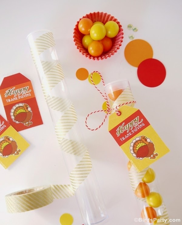 DIY Thanksgiving Party Favors With Free Printables